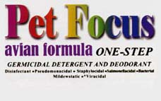 Pet Focus Avian Formula One-Step Germicidal Detergent and Deoderant